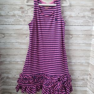 Polo Girls Blue and Pink Swing Dress